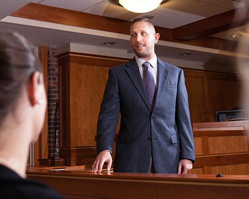Lawyer addressing the jury